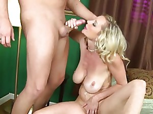 Skinny Aged MILF with Large Saggy Whoppers Screwed