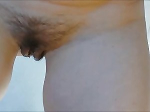 unaware wife's hirsute wet crack conclude and in element