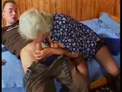 Breasty German Granny copulates youthful Dude