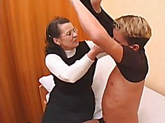 Granny in nylons drilled