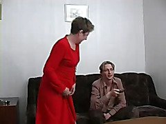 Unsightly granny acquires gangbanged by a juvenile chap