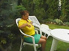 BBW breasty granny gives a huge oral stimulation