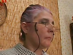 Granny with goggles drilled and facialized