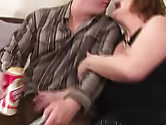 Unshaved Aged Takes the Cum in Her Clam