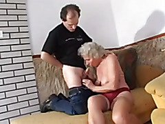 granny with slaggy meatballs goes anal