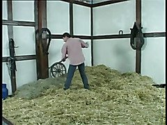 Granny receives a role in the hay