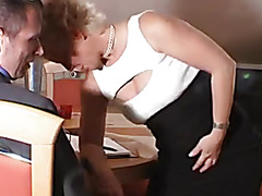 Older bitch in nylons acquires her wazoo nailed
