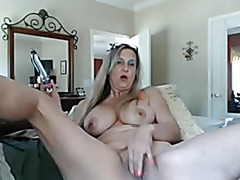 Sexy granny with sex tool