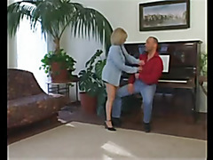 golden-haired granny drilled