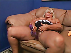 BBW Granny Acquires Her Curly Cunt Drilled