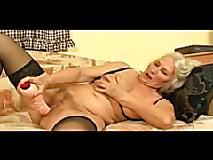 Granny Toys Her Rock Difficult Bawdy cleft Next Gets Screwed