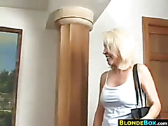 Unshaved Golden-haired Granny Getting Screwed