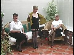 Vintage Stripping from 3 Older Countryside Ladies
