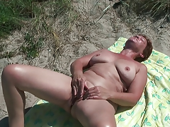 Preceding masculine licking vagina of my wife at Asserbo plage