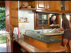 Nasty spanish housewife bonks in the cook-room