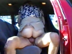 Wife drilled in a automobile spouse is filming