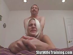 Cuckold Spouse Watching Wife Label Teamed and Creampied