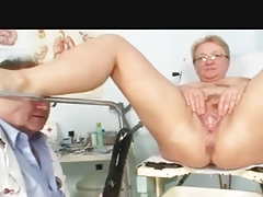 Breasty Granny Suppressed above by the Physician