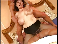 Three-some ITALIAN Aged TROIA Fuckfest BBW takes tough ramrod in the a-hole whole the line
