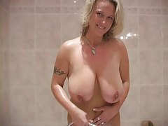 Breasty Mommy In The Powder room