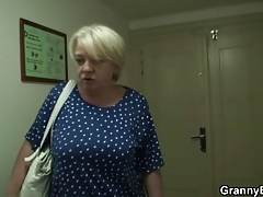 Granny receives fucked by youthful dude then shopping