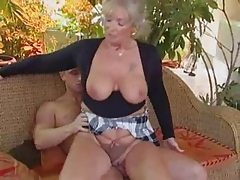 Blond granny boned by a fellow