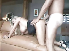 Blond Breasty Wife Receive House Fucking And Facial