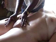Aged Bawdy cleft Massage