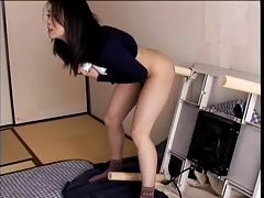 Excited wife Haruka Okoshi fucking herself with marital-device