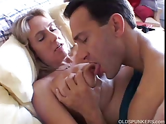 Charming breasty aged hottie boned and blasted