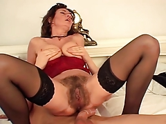 squirting aged shaggy brunette hair
