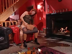Daughter Watches Red Headed Step Mamma Receiving Anal