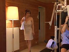French milf screwed in sauna