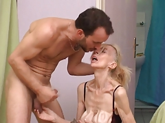 French unattractive aged bitch Marie-The anorexique
