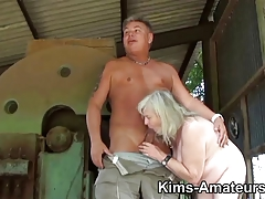 72 year preceding granny gives a oral-sex and acquires drilled
