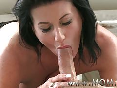 Mamma Older MILF takes burden of her masculine