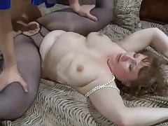stockings aged creampie from chiken