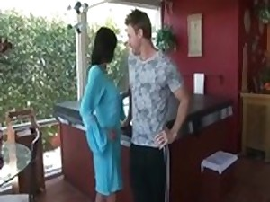 tiny milf step mama and son receive it on